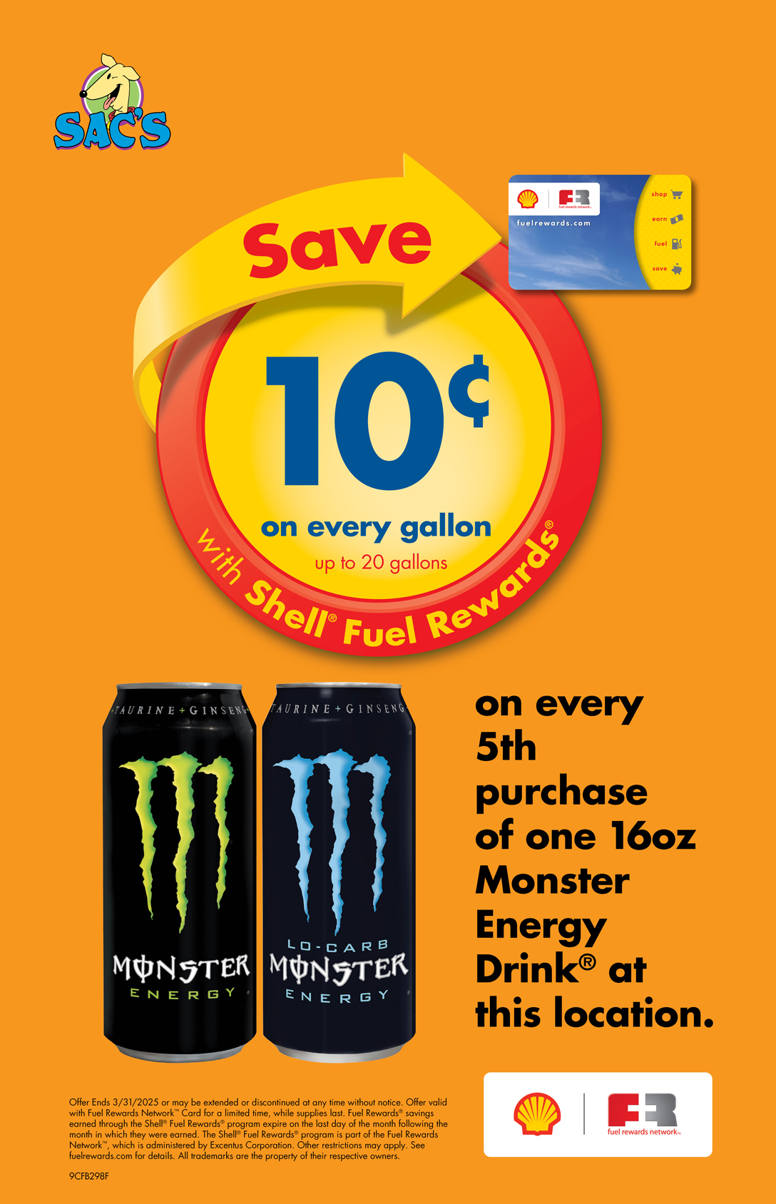 Save 10 cents per gallon for every 5th Monster you purchase